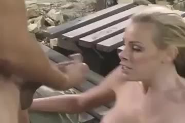 nicole Sheridan gets a large facial