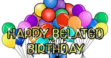 Watch and share Happy Birthday Belate animated stickers on Gfycat
