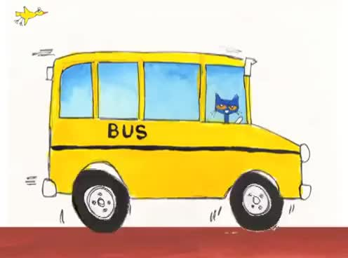 Watch and share The Wheels On The Bus - Pete The Cat GIFs on Gfycat