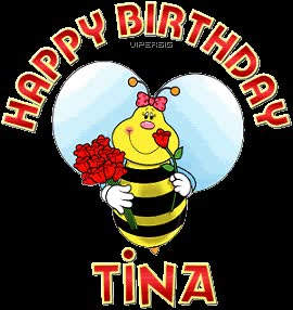 Watch and share Happy Birthday Tina Photo: Happy Birthday Tinab-viHappyBirthday.gif animated stickers on Gfycat
