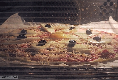 timelapse pizza baking GIFs