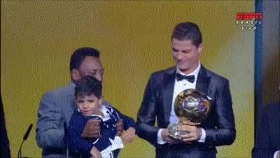 Watch and share Cristiano Ronaldo Wins Fifa Ballon D'Or   Rebrn.com GIFs on Gfycat