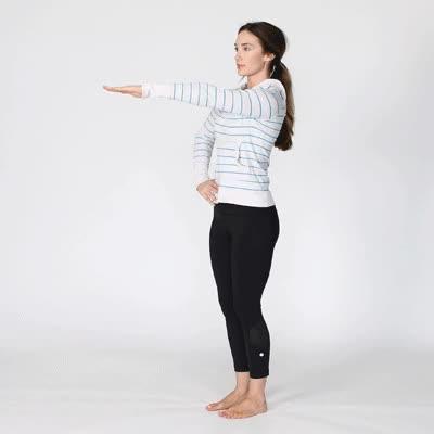 Watch and share 400x400 Understanding Bursitis Shoulder Pain Posterior Stretch GIFs on Gfycat
