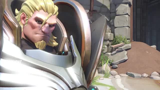 Watch Get fucked GIF by @knapplapp on Gfycat. Discover more Overwatch, Pinnedagainstthewall, Reinhardt, highlight GIFs on Gfycat