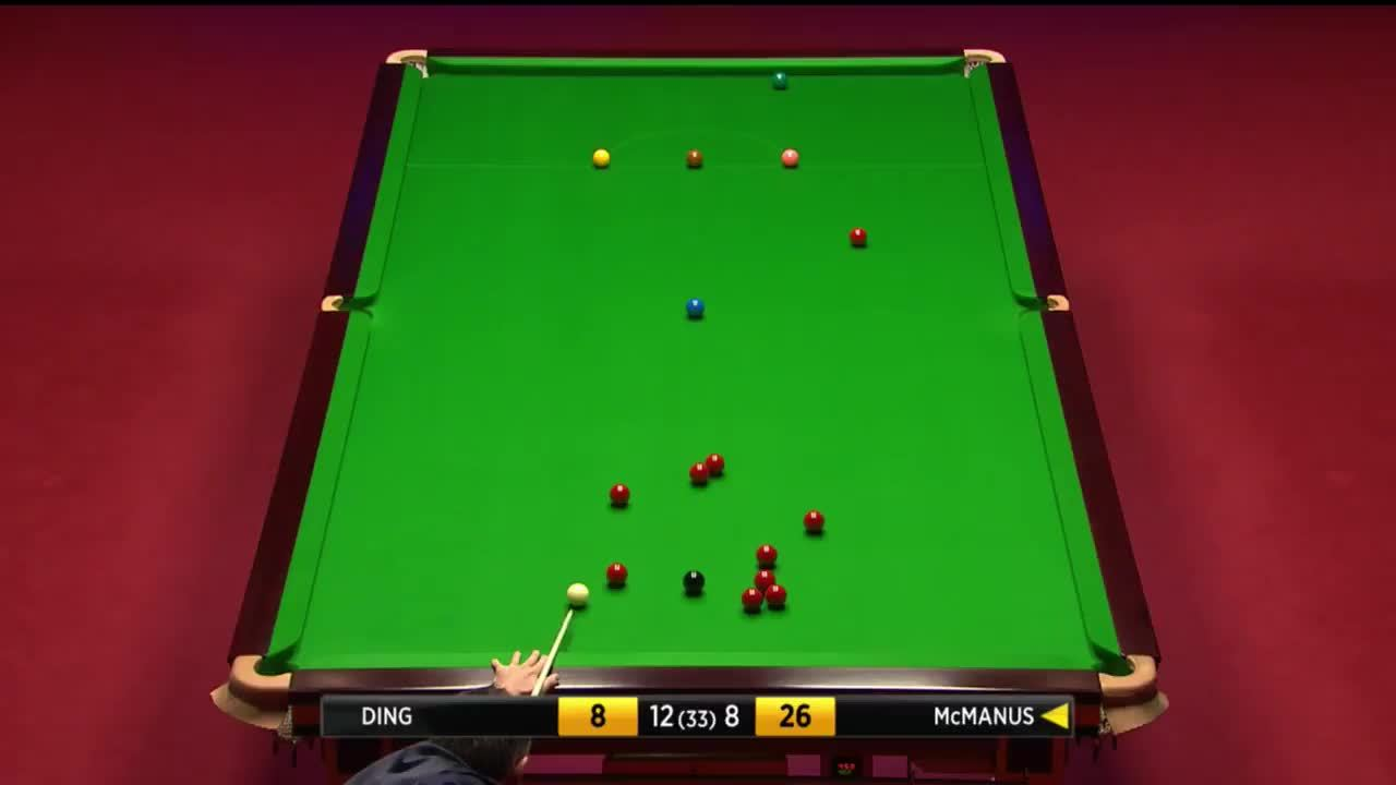 snooker, SHOT on the long red from McManus! | Betfred World Championship GIFs