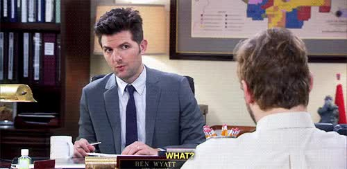 Watch and share Parks And Rec Ben GIFs on Gfycat