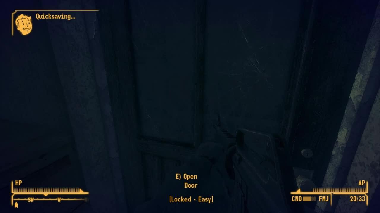 Fallout: New Vegas, death, door, lockpick, stairs, ded GIFs