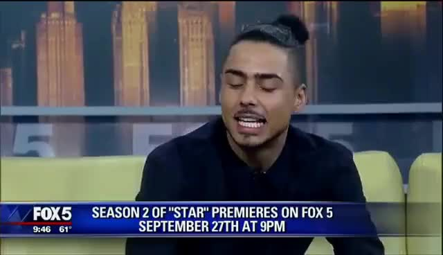 Watch and share Star Cast- Quincy On Good Day NYC Doing Promo For Season 2 GIFs on Gfycat