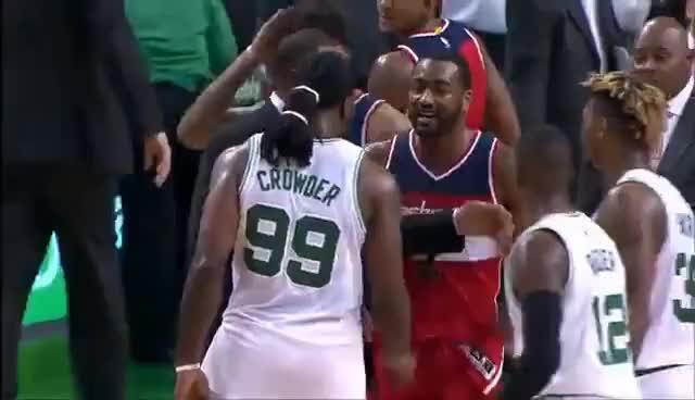 John Wall SLAPS Jae Crowder - Celtics vs Wizards Fight