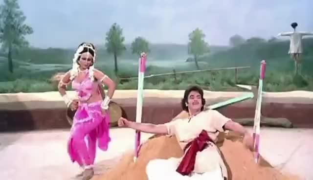 Watch and share Pari Re Tu Kahan Ki Pari - Asha Bhosle & Mukesh Classic Duet - Udhar Ka Sindur GIFs on Gfycat