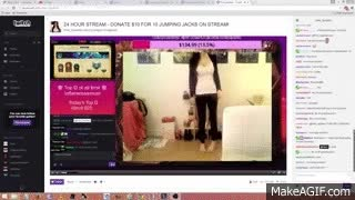 Twitch - Pink_Sparkles jumping jacks for subs