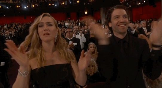 applause, clap, clapping, kate winslet, respect, slow clap, Kate Winslet Clapping GIFs