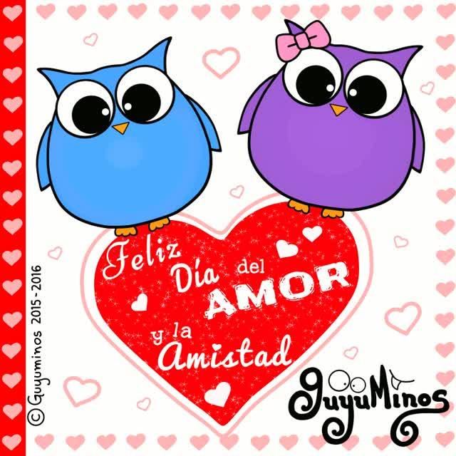 Watch and share Feliz ADa Del Amor La Amistad Guyuminos GIFs on Gfycat