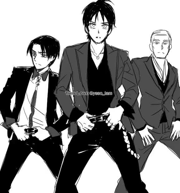 Watch and share SHINGEKI NO KYOJIN SEXY MALE DANCE. GIFs on Gfycat