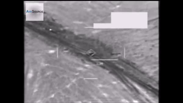 militarygfys, Airstrike on ISIS truck near Ibril. 26/8/14. (reddit) GIFs