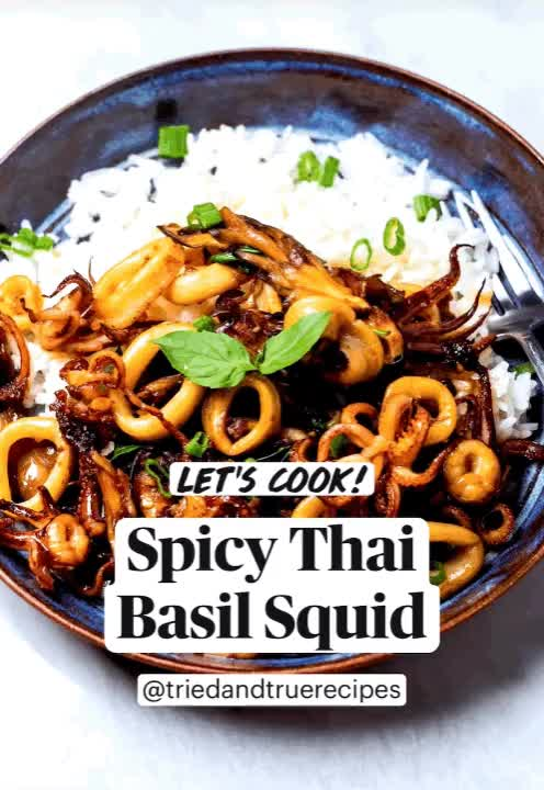 Watch and share Thai Basil Squid GIFs and Recipe GIFs by triedandtruerecipes on Gfycat