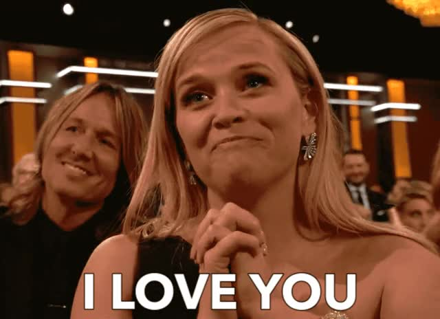 Watch and share Reese Witherspoon GIFs and I Love You GIFs by Reactions on Gfycat