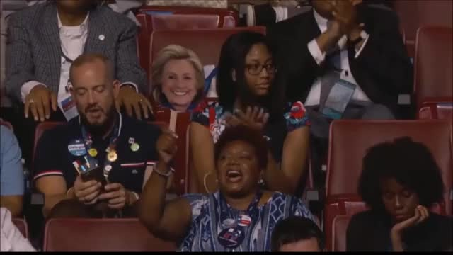 Watch Hillary Face in the crowd GIF on Gfycat. Discover more DNC2016, demconvention GIFs on Gfycat