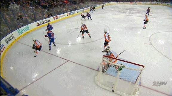 edmontonoilers, hockey, Matt Hendricks (1) ASST: Andrej Sekera (5), Mark Letestu (3) GIFs