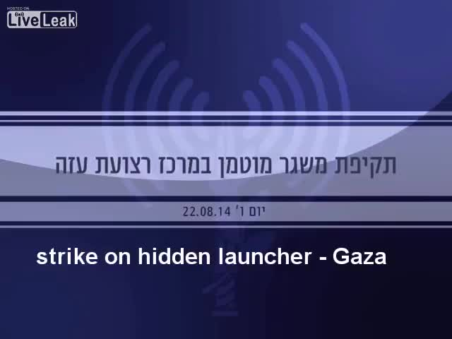 Watch and share Israeli Airstrike Detonates Massive Hamas Rocket Cache (reddit) GIFs on Gfycat