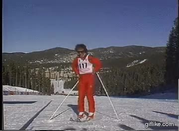 Watch and share Skier Hits GIFs on Gfycat