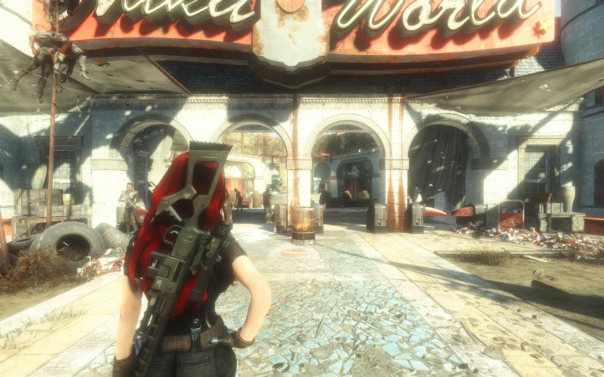 Fallout 4, Hair Physics, modding, Physics GIFs