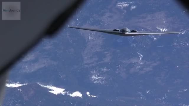 Watch B-2 Stealth Bomber In-flight Refueling GIF on Gfycat. Discover more Aerial Refueling (Aircraft Type), Bomber (Aircraft Type), KC-135, Northrop Grumman B-2 Spirit (Aircraft Model), Refueling, Stealth Bomber, Stratotanker GIFs on Gfycat