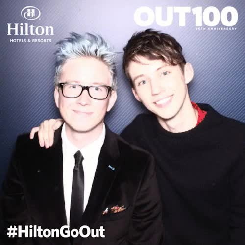 Watch and share Tyler Oakley GIFs and Troye Sivan GIFs on Gfycat