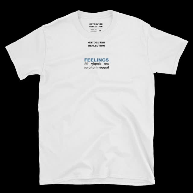 Watch and share Feelings T-shirt White GIFs on Gfycat