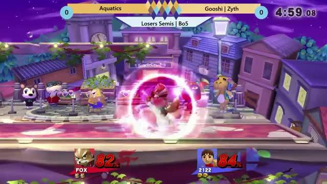 Watch VTT #48: Aquatics (Fox) vs Gooshi | Zyth (Brawler/Roy) GIF on Gfycat. Discover more Gaming, GooshiGaming, smashgifs, ssmb GIFs on Gfycat