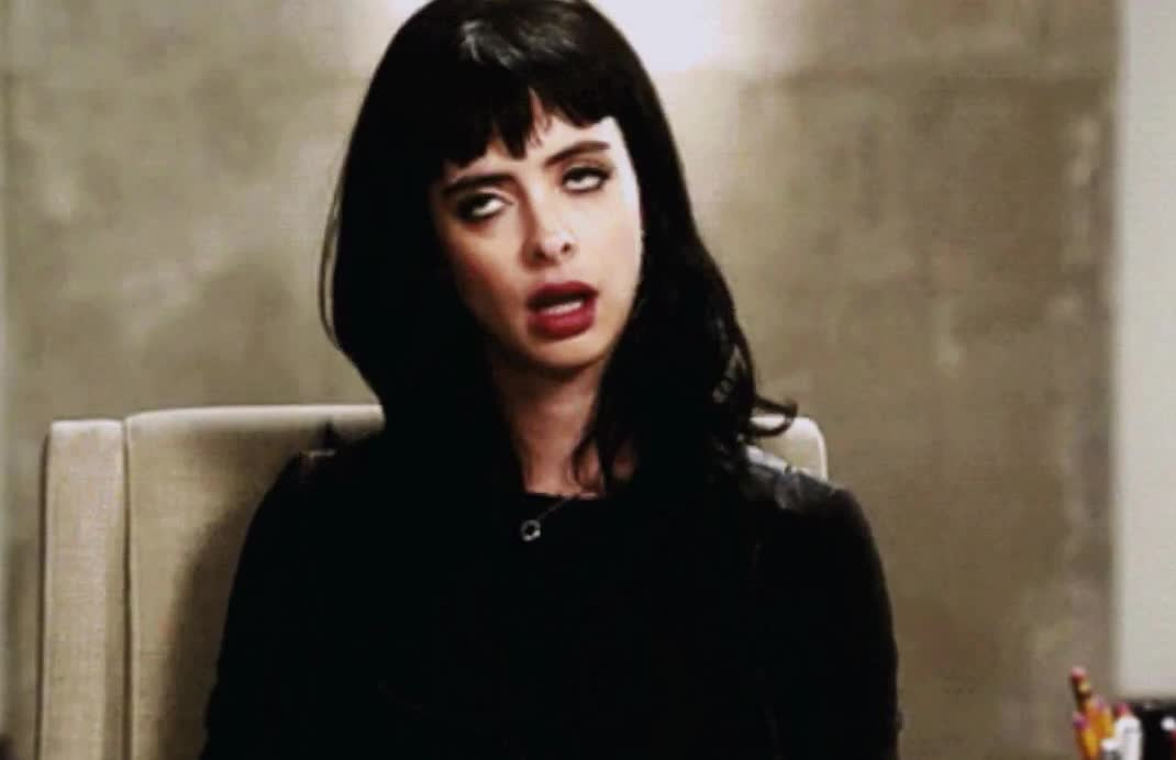 GIF Brewery, Krysten Ritter, epic, eye, eyeroll, funny, hilarious, jessica, jones, roll, rolling, snob, tired, Epic eye rolling Jessica Jones GIFs