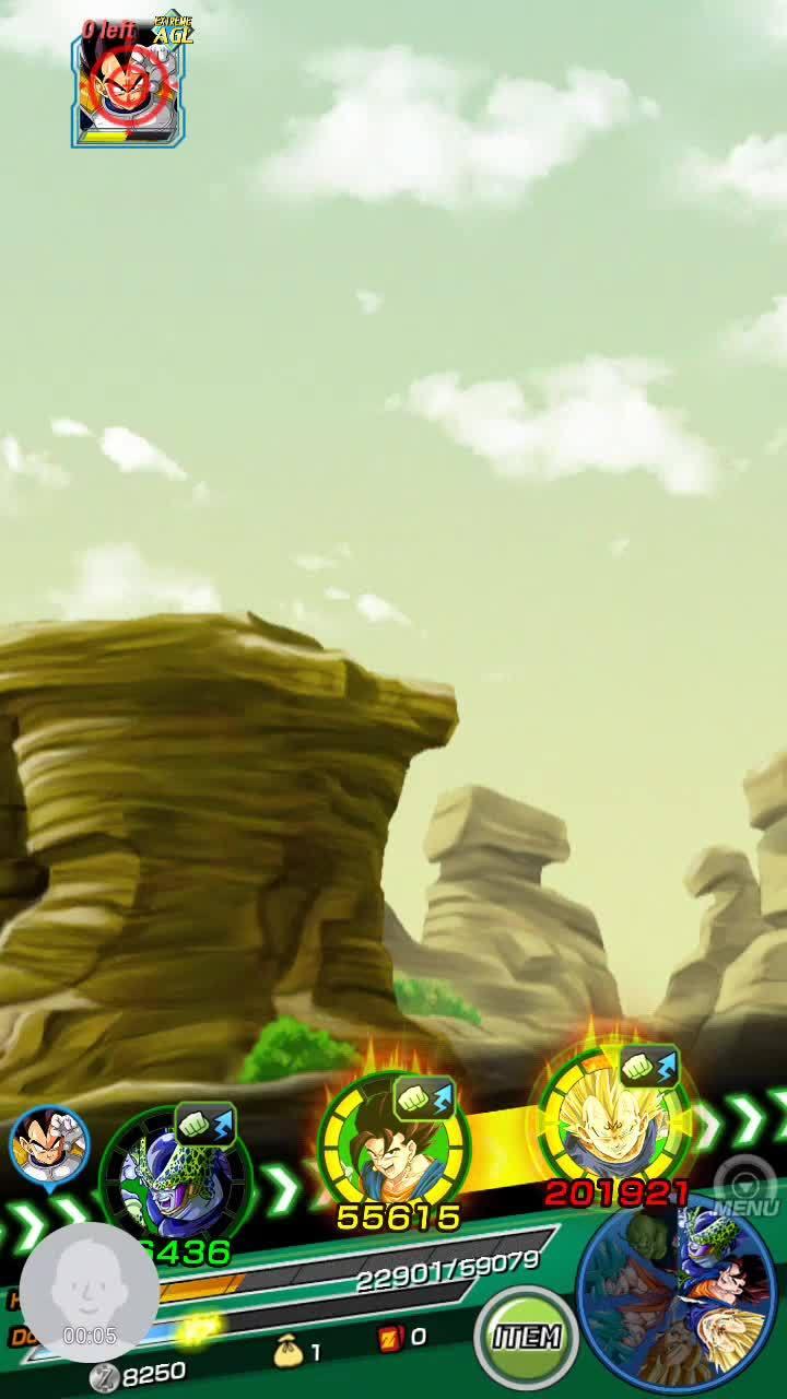 dbzdokkanbattle, majin vegeta, SA 10, Dual SSGSSJ Goku lead Majin Vegeta Nuke GIFs