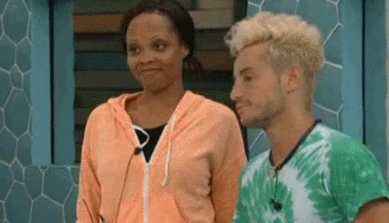 Watch OMG, how did I never see this before? It's like my two favorite BB16 things...naked Zach and Jocasta facial expressions. GIF on Gfycat. Discover more related GIFs on Gfycat