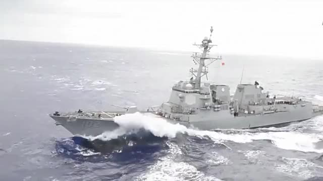 Watch and share USA Shows Force To North Korea & China With Giant US Navy Armada In Action In The Pacific GIFs on Gfycat