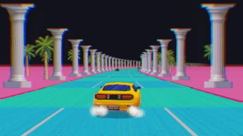 Outrun, Slipstream Demo by Sandro Luiz de Paula (Ansdor) GIFs