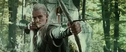 Watch and share Lord Of The Rings GIFs and Bow And Arrow GIFs on Gfycat