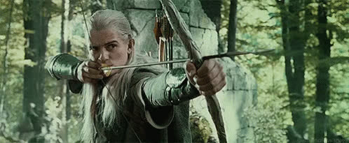 archery, bow and arrow, lord of the rings, lotr, orlando bloom, bow and arrow GIFs