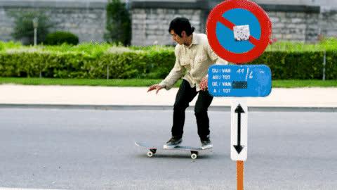 Skateboarding or Parkour!? GIFs