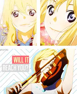Watch  Miyazono Kaori           -you lie in april GIF on Gfycat. Discover more anime, kaori, kaori miyazono, manga, music, otaku, shigatsu wa kimi no uso, violinist, you lie in april GIFs on Gfycat