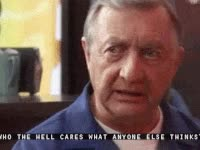 Watch and share Bob Kelso, Quotes, Scrubs, Who Cares GIFs on Gfycat