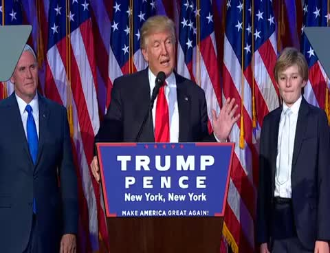 Watch and share Donald Trump's Acceptance Speech After Winning The 2016 Presidential Election GIFs on Gfycat