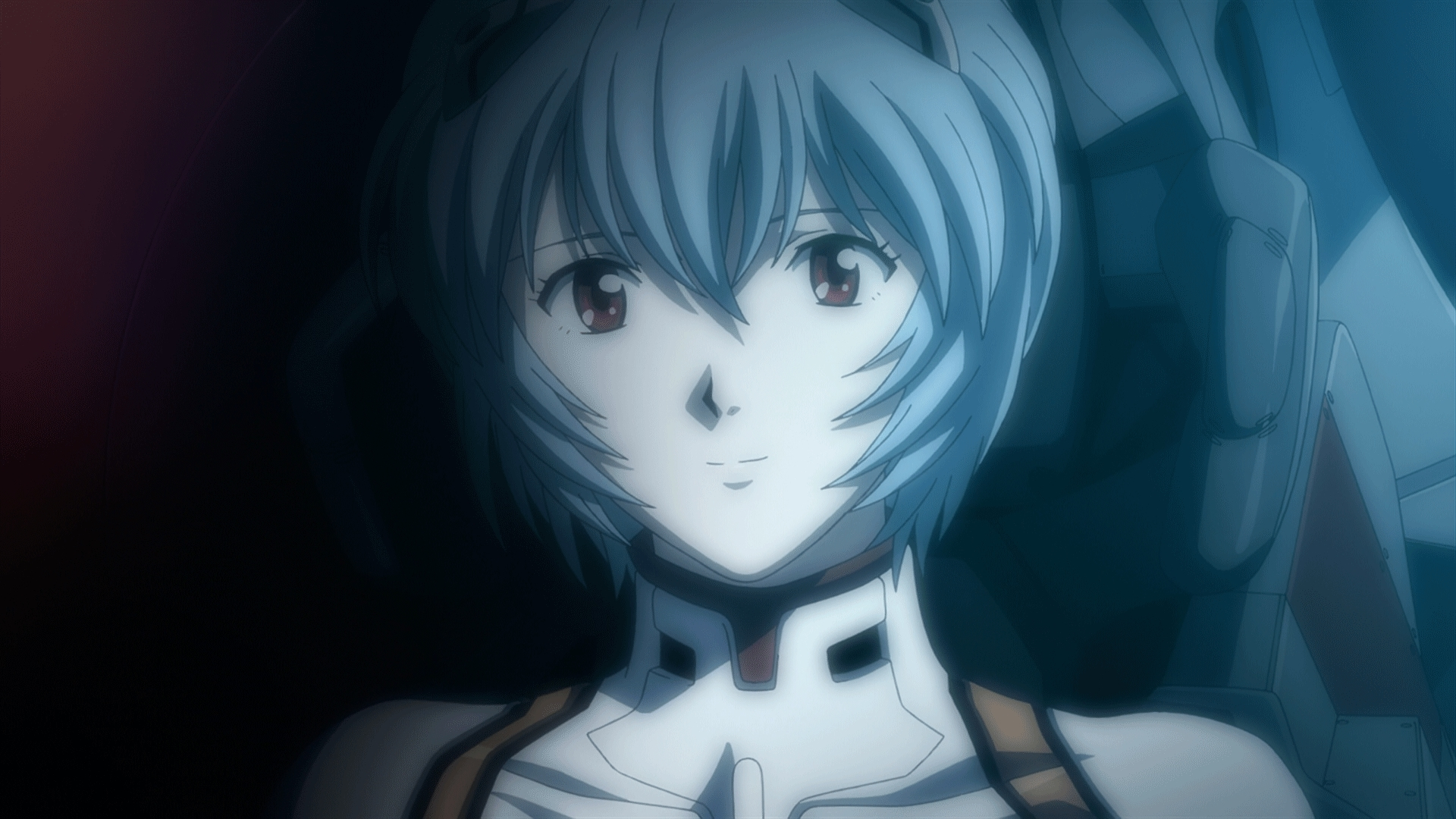 animegifs, Ayanami Rei smiling [Rebirth of Evangelion 1.11] GIFs