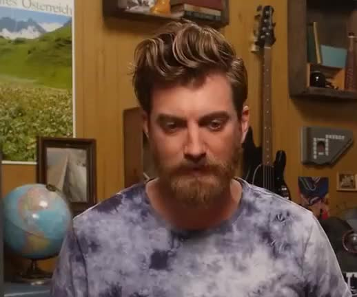 Watch this hmm GIF by GIF Queen (@ioanna) on Gfycat. Discover more GIF Brewery, Rhett Mclaughlin, funny, good, hmm, link, morning, mythical, rhett, think, thinking, thoughtful, wise, wonder, youtube GIFs on Gfycat