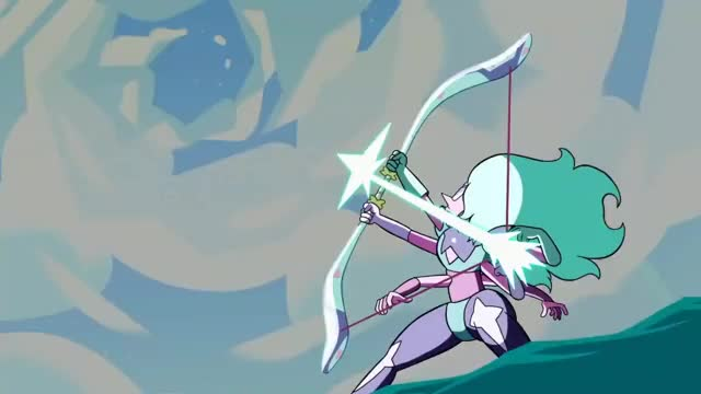"Watch and share >Alexandrite [Bow-and-arrow] <Malachite [Durability] (Steven Universe S3E1 ""Super Watermelon Island"") GIFs by revanche on Gfycat"