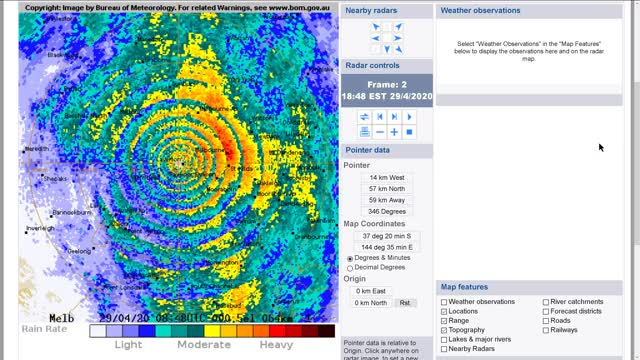 Watch and share Melbourne Weather Radar GIFs by Etelmo on Gfycat