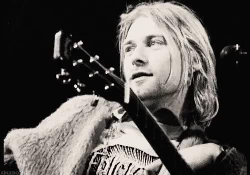 Watch and share Krist Novoselic GIFs and Kurt Cobain GIFs on Gfycat
