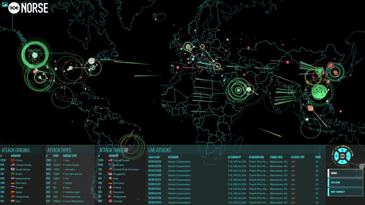 Hacking, Sci-fi, ambient, candy, computer, hackers, saver, scifi, screen, screencandy, screensaver, video, Norse Corp Map - Global View GIFs