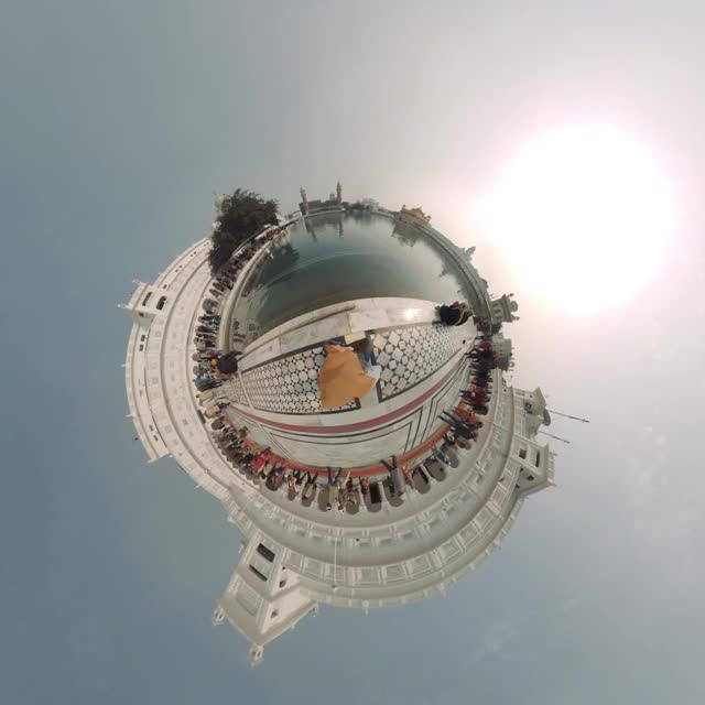 Watch and share Golden Temple 360 Cinemagraph TinyPlanet Amritsar, India - Pandorama360.mp4 GIFs on Gfycat