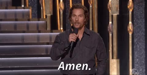 Watch and share Matthew Mcconaughey GIFs and Amen GIFs on Gfycat