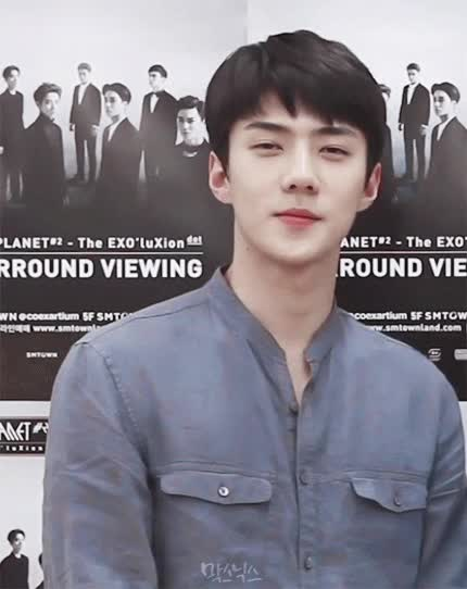 Watch and share Celebs GIFs and Sehun GIFs on Gfycat